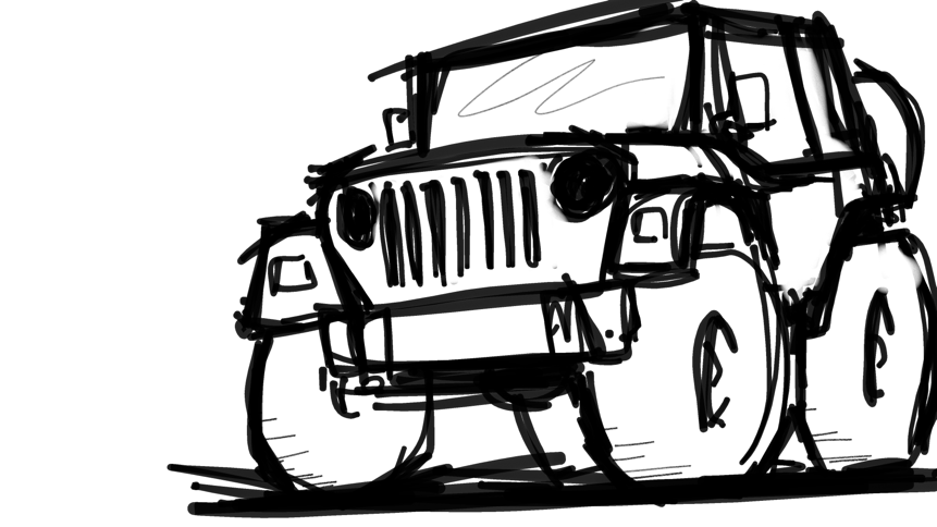 Line Drawing Jeep : Jeep wrangler tj possible shirt design whatcha think