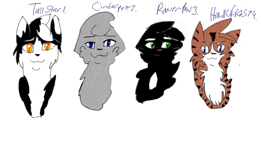 Warrior Cat Base Shaded