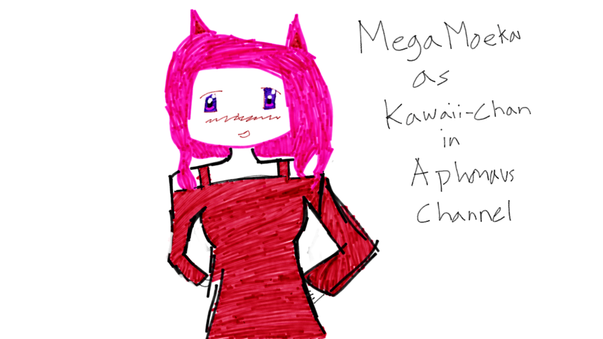 A little sketch I did in school for free time! I wanted to do a YouTube thingy for MegaMoeka,Aphmau,and the members that are included in Aph's Channel.