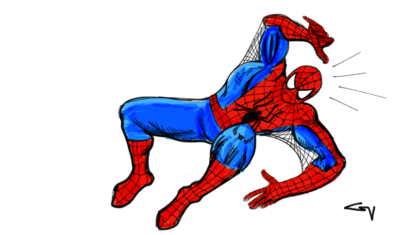 Your friendly Neighborhood Spider-Man! Drawn from memory, based off John Romita Jr.'s rendition.
